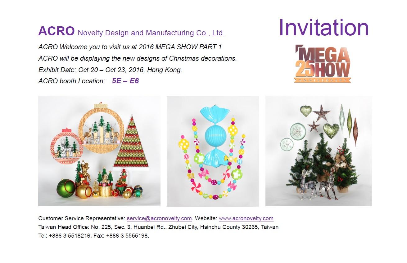 Acro acropowerfirm invitation letter hongkong mega show part i 2014 2014 10 16 stopboris Choice Image